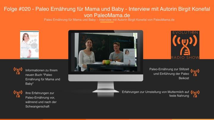 Folge #020 – Paleo Ernährung für Mama und Baby – Interview mit Autorin Birgit Konefal von PaleoMama.de