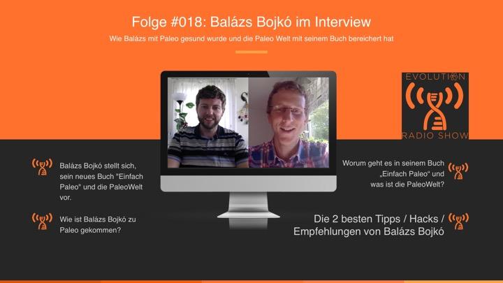 """Folge #018: Wie Balázs Bojkó mit Paleo gesund wurde und alles über sein Buch """"Einfach Paleo"""" und die PaleoWelt.de"""