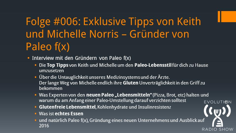 Folge #006: Exklusive Tipps von Keith und Michelle Norris – Gründer von Paleo f(x)