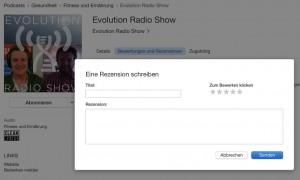 Podcast Rezension schreiben