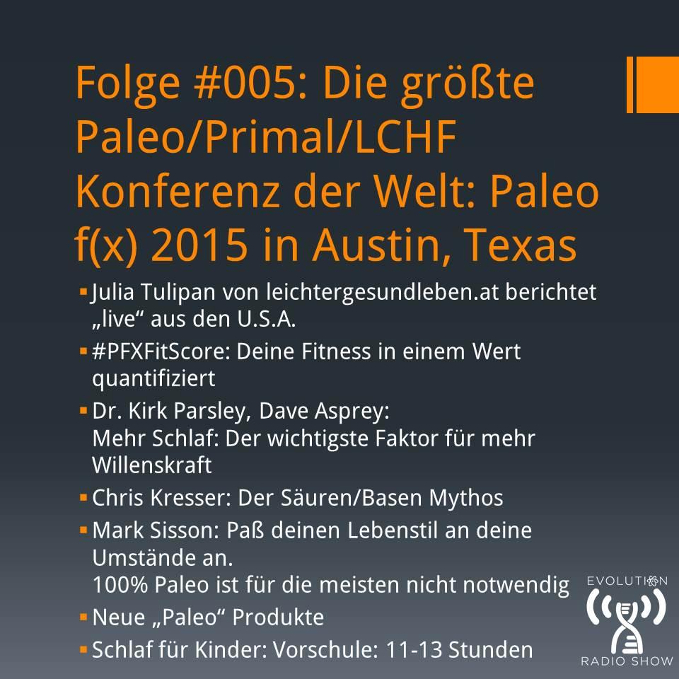 Folge #005: Paleo f(x) 2015 in Austin, Texas: Die größte Paleo/Primal/LCHF Konferenz der Welt